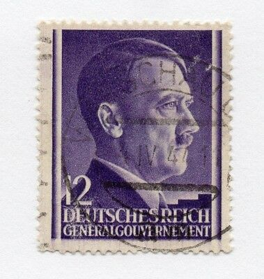 German Occupation of Poland 1941 Hitler Early Issue Fine Used 12gr. 297127