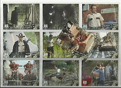 2018 The Walking Dead Road to Alexandria COMPLETE SET of 100 Base Cards (1-100)