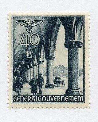 German Occupation of Poland 1940 Early Issue Fine Mint Hinged 40gr. 297175