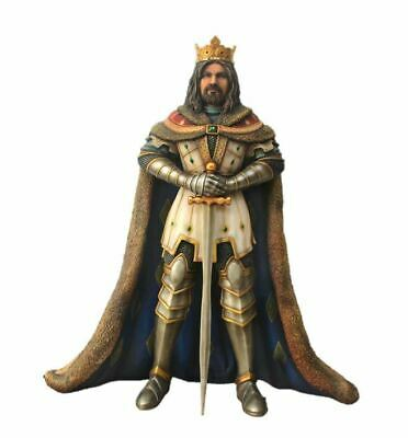 King Arthur Life Size Statue Mythical Knight Prop Medieval Décor Resin