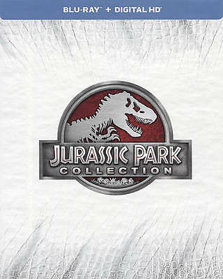 Jurassic Park Collection (Blu-ray Disc, 2015, 4-Disc set + Digital HD) NEW!