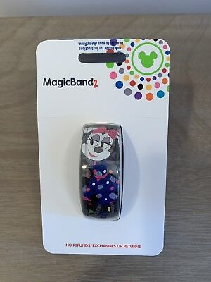 NEW Disney Parks Minnie Mouse Detail In The Dots MagicBand 2 Magic Band Linkable