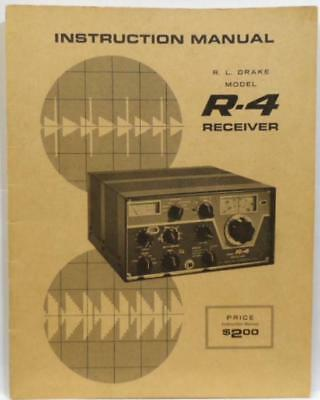 RL Drake R-4 Original Instruction Manual in Very Good Condition