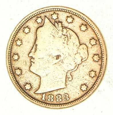 1883 24K Gold Plated 'Racketeer' Liberty V Nickel - Great History *410