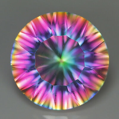10.29 Ct Natural Brazil Multi-Color MYSTIC QUARTZ Round Gemstone @ See Video !!
