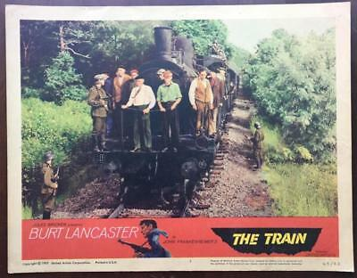 Nazis in WWII use human shields for train 1965 The Train #3 lobby card 2285