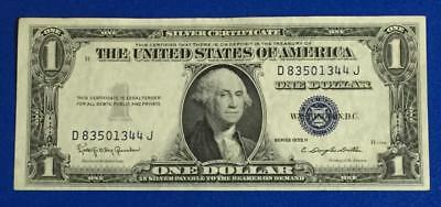 1935H $1 Blue Choice Crisp AU SILVER Certificate X344 Old US Paper Currency