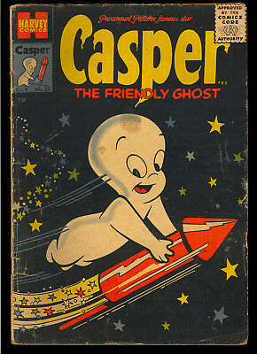 Casper the Friendly Ghost #34 Nice Golden Age Harvey Comic 1955 GD+