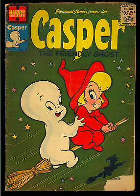 Casper the Friendly Ghost #41 Nice 1st Wendy Cover App. Harvey Comic 1956 GD+
