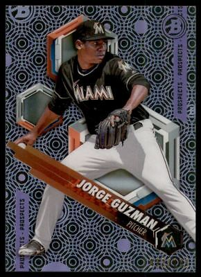 2018 Bowman High Tek Prospects Purple Rainbow #PHTJG Jorge Guzman /150