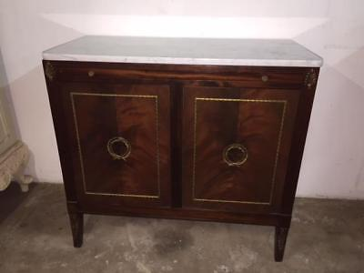 F4009 Vintage French Marble Topped Cocktail Cupboard Drinks Bar