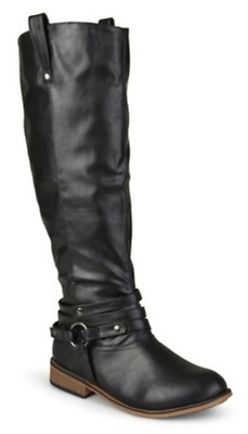 51323d6407b Journee Collection Women s Wide-Calf Ankle-Strap Knee-High Riding Boots  Size 10