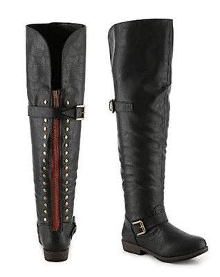 5872a2660054 Journee Collection Kane Wide Calf Over The Knee Boot - Women s - Black size  9