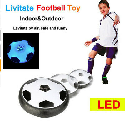 LED Light Air Power Training Ball Soccer Football Goal Toy Set Gifts For Kids