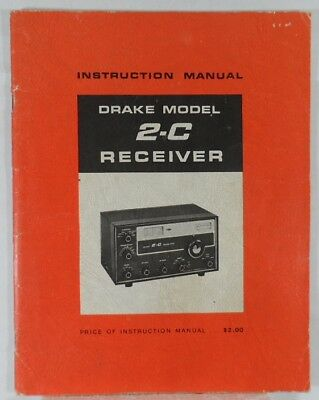RL Drake 2-C Original Instruction Manual in Excellent Condition