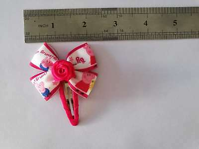 """100 BLESSING Good Girl 2.5"""" Hair Bow Clip Piggy Page Rhinestone Baby"""