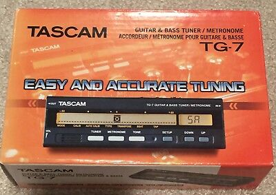 Tascam TG-7 Chromatic Guitar and Bass Tuner / Metronome, New! With Paperwork