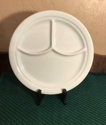 Vintage Iroquois China White Divided Grill Plate