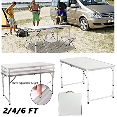 HEAVYDUTY Portable Folding Camping Picnic Table Party Kitchen Outdoor Garden BBQ