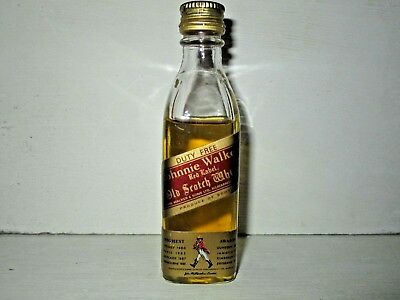 miniature mignon whisky JOHNNIE WALKER red label DUTY FREE