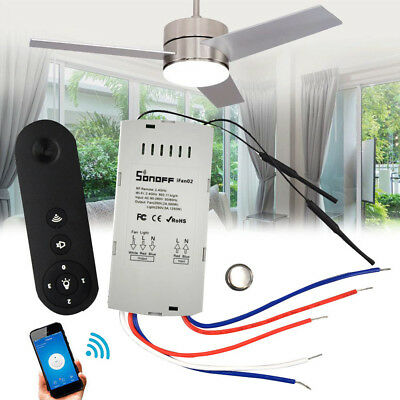 SONOFF IFan02 LED Ceiling Fan Smart Switch Controller Timer APP Remote Control