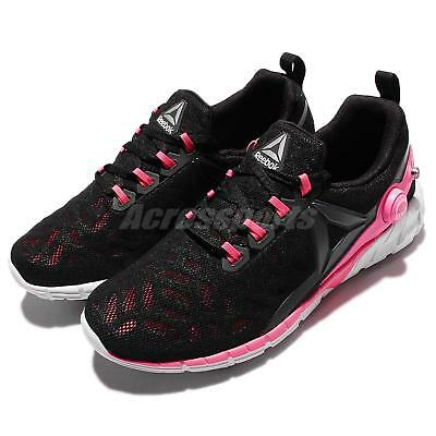 8602d528c2ecce REEBOK ZPUMP FUSION 2.5 Black Pink White Women s Running Shoes Size ...