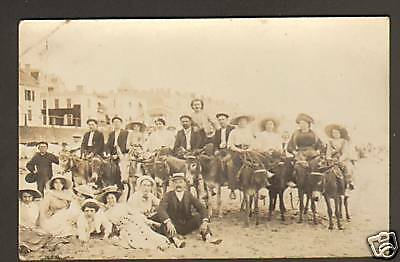 SABLES D'OLONNE (85) VILLAS & ANES carte-photo en 1910