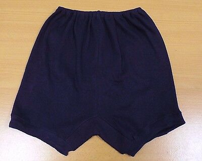 VINTAGE 1960's UNWORN GIRLS NAVY BLUE RUTH SCHOOL GYM KNICKERS PANTIES SIZE 32""