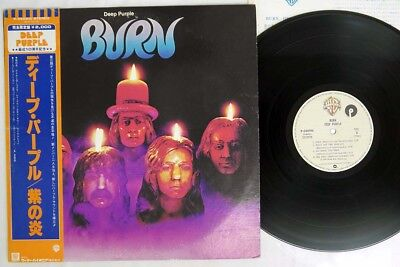 DEEP PURPLE BURN WARNER P-6509W Japan OBI VINYL LP