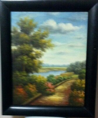 Canvas art 16x20 inches oil painting Landscape, It is signed by the artist.