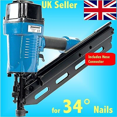 34 DEGREE AIR FRAMING NAILER for Ring Shank nails brad gun tool stapler decking