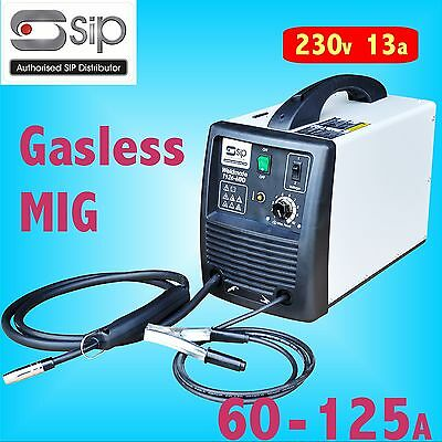 SIP 05710 T126 60 - 125A amp Gasless MIG Welder 230v 13a weld with no gas