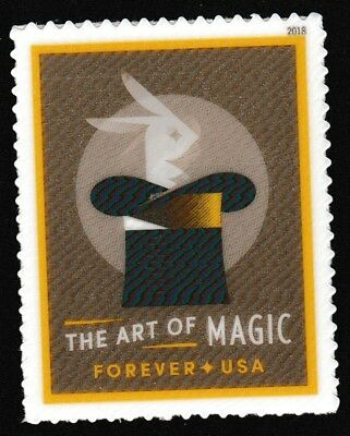 US 5306a The Art of Magic Rabbit forever single (from souvenir sheet) MNH 2018