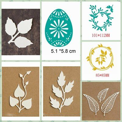 Mixed Leaves Egg Metal Cutting Dies Stencil Scrapbooking Decorative Paper Crafts