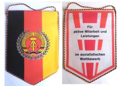 DDR NVA Tisch - Fahne Wimpel Socialist .../  East german army flag for table GDR