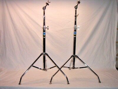2 Gorgeous Vintage 1976 Ludwig 1405 Swivel Foot Vistalite Straight Cymbal Stands