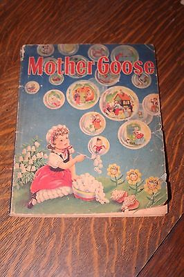 Antique Book - 1944 Mother Goose by Whitman Publishing Illustrated Francis Kirn