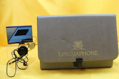 LINGUAPHONE French Language Stereo cassette player& Head  phones ##REC 31 SG