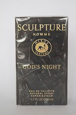 Nikos Parfums - Sculpture Homme - God's Night  Edt 50Ml Ovp #82-10-4