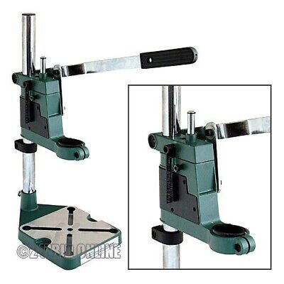 New Plunge Power Drill Press Stand + Depth Gauge Bench Pillar Pedestal Clamp