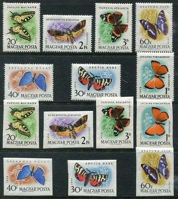 HUNGARY  1268 - 1271 Beautiful Mint NEVER Hinged PERF & IMPERF Set UPTOWN 47948
