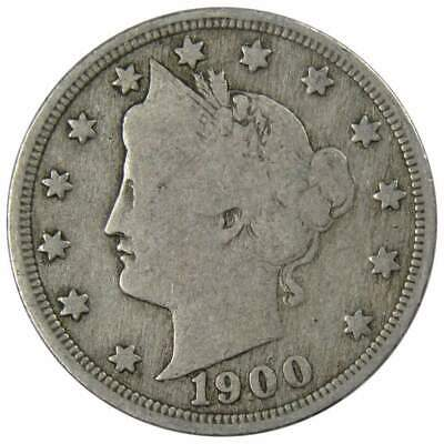 1900 5c Liberty Head V Nickel US Coin Average Circulated