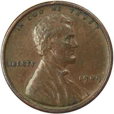 1909 V.D.B. 1c Lincoln Wheat Cent Penny XF EF Extremely Fine