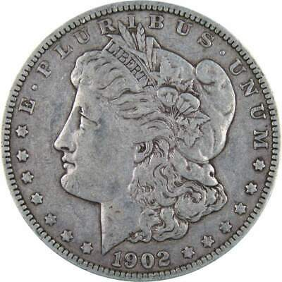 1902 $1 Morgan Silver Dollar F Fine