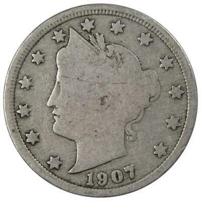 1907 Liberty Head V Nickel G-Good