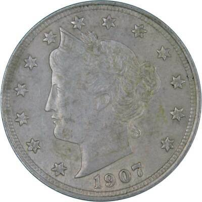 1907 Liberty Head V Nickel AU-About Uncirculated