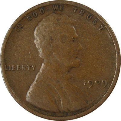 1909 Lincoln Wheat Cent Penny VG-Very Good