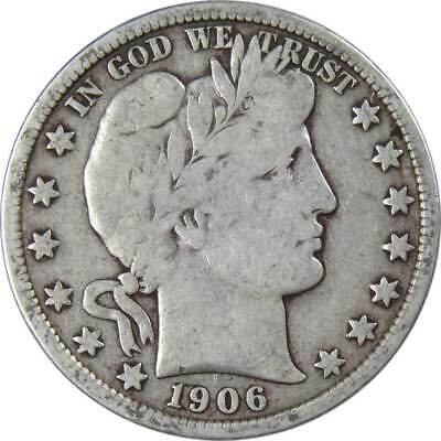 1906 D Barber Silver Half Dollar VG-Very Good