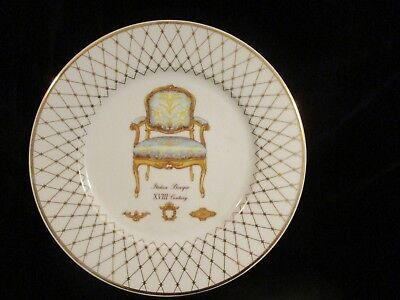 "Italian Baroque French Chair, XVIII Century Rare Lenox Dinner Plate 10 3/8"" Wide"