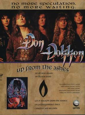 1990 Vintage Magazine Ad Page Don Dokken Up From the Ashes Album Release